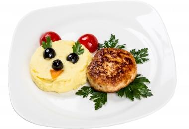 Krumplipüré zöldségfasírttal