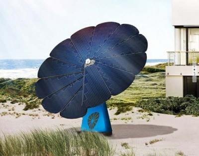 Íme a virág alakú napelem