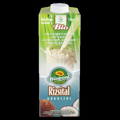 Rizsital kókuszos (gluténmentes) BIO 1 l (Biopont)