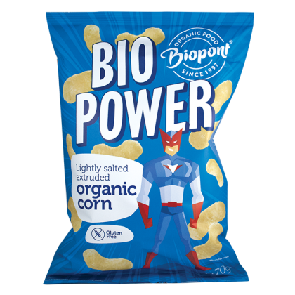 Extrudált kukorica, enyhén sós, gluténmentes BIO 70 g (BIO POWER)