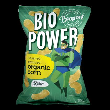 Extrudált kukorica, sótlan, gluténmentes BIO 70 g (BIO POWER)