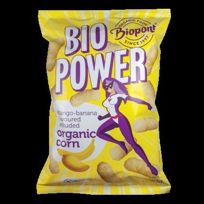 Extrudált kukorica, valódi mangó és banán porral, gluténmentes BIO 70 g (BIO POWER)