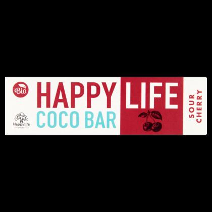 HAPPY LIFE COCO BAR - Meggyes-kókuszos szelet BIO 40 g