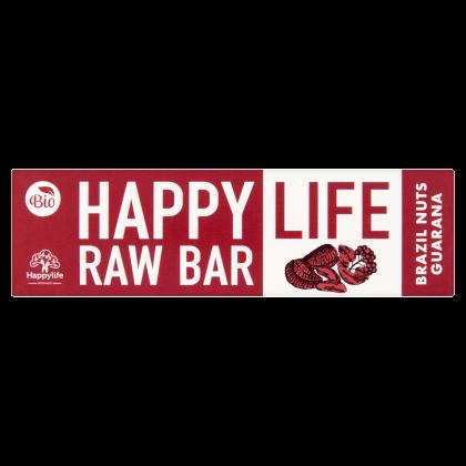 HAPPY LIFE RAW BAR - Brazil Dió-Guarana szelet BIO 42 g