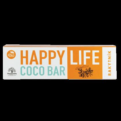 HAPPY LIFE COCO BAR - Homoktövises-kókuszos szelet BIO 40 g