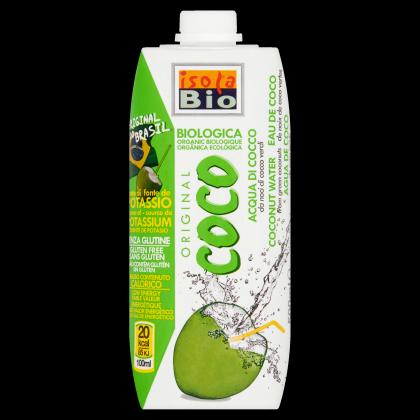 Kókuszdióvíz, gluténmentes BIO 500 ml (Isola Bio)