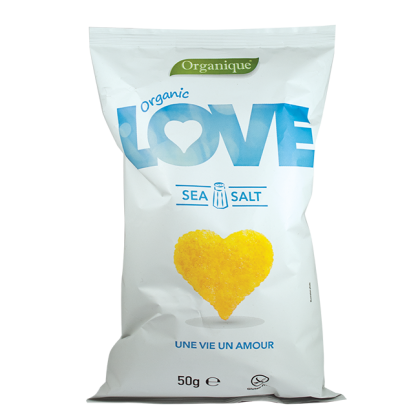 "Kukorica snack, tengeri sós ""Love"" BIO 50 g"