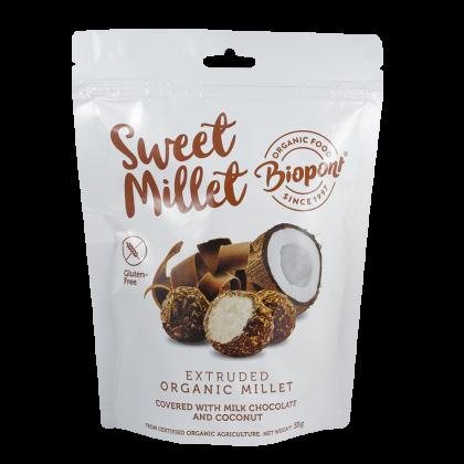 Tejcsokoládés - Kókuszos Extrudált Köles, gluténmentes BIO 55 g