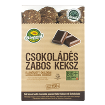 Oat biscuit with chocholate peaces, organic