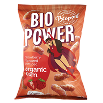 Extrudált kukorica, valódi eperporral, gluténmentes BIO 70 g (BIO POWER)
