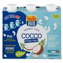 Kókusz ital cukormentes (glutén-, laktózmentes) BIO 3x250 ml (Isola Bio)