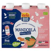 Mandula ital cukormentes (glutén-, laktózmentes) BIO 3x250 ml (Isola Bio)