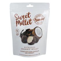 Étcsokoládés - Kókuszos Extrudált Köles, gluténmentes BIO 55 g