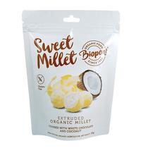 Fehércsokoládés - Kókuszos Extrudált Köles, gluténmentes BIO 55 g